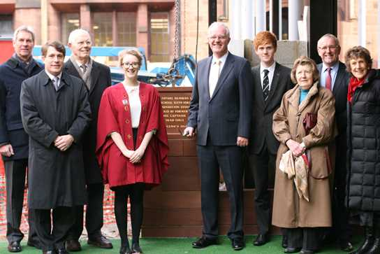Laying the foundation stone of the new Sixth Form Centre