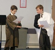 Year 7 boys Thomas and Jude were awarded first place in the Latin Beginners