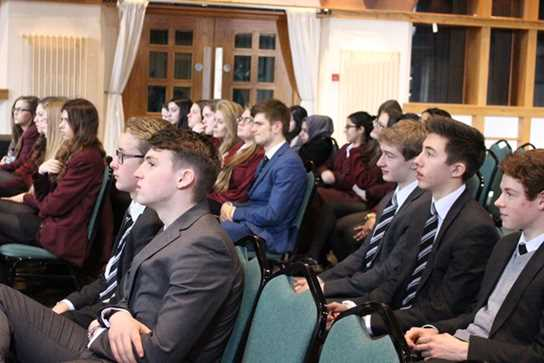 Boys and girls enjoying one of the fascinating talks