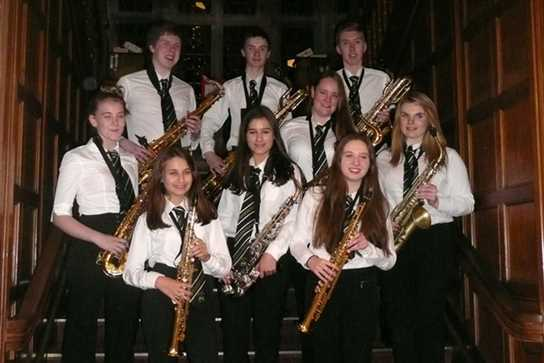 The members of the Saxophone Choir who will be attending the World Saxophone Congress