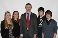 Old Boy Ben Lomas spoke to the pupils about Private Banking