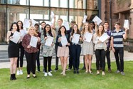 A Level pupils celebrate