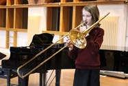 Year 8 pupil Antigone won the Middle School Brass section