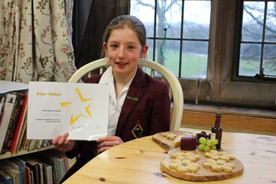Olivia's biscuits won her the Star Baker award in Round Two