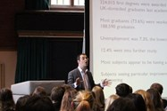 Charlie Ball gave a keynote address about graduate prospects