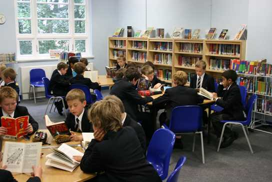 Junior Boys enjoy their new library