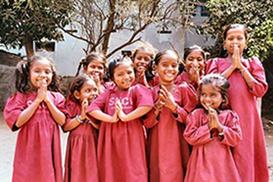 The Girls Division has done a lot of work with SKCV, India, including sending 20 students out to visit in December 2005