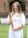 Rachel then spent the morning in school with the the torch