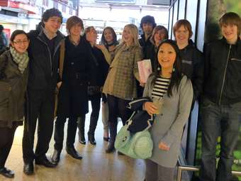 The Sixth Formers arrive in London