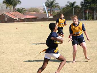Rugby Training in the Townships