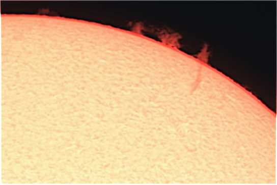 Image of the sun taken by pupils working with the solar telescope at a previous event at School