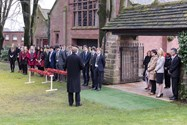 Headmaster Mr Philip Britton read out the names of the 81 fallen as students planted 81 poppies