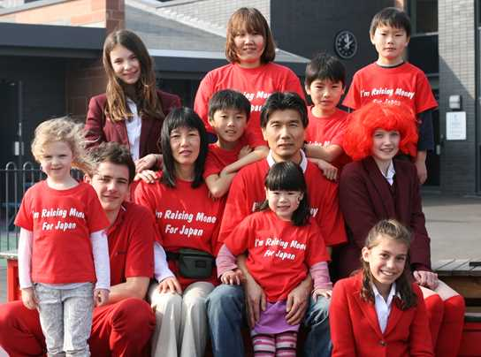 Makino family with pupils