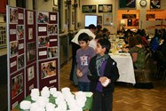 Pupils showed off their work before sitting down to a silver service dinner