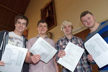 Boys' GCSE results have placed them at the top of local school league tables