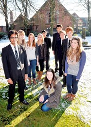 Students celebrate their Oxbridge offers