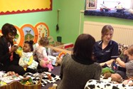 The children really enjoyed playtime with the mums!