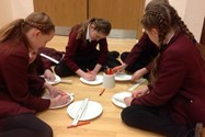 Labelling the parts of a circle on a paper plate