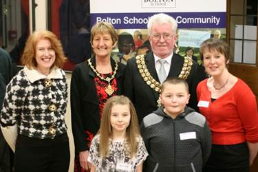 The Mayor and Mayoress of Bolton helped local children celebrate at the SHINE Graduation Dinner