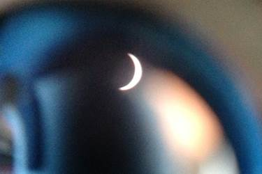 Eclipse photo taken by Girls' Division Head of Physics Mr Ball through a Bolton Astronomical Society telescope