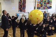The Junior Boys learned about the science of a solar eclipse in assembly