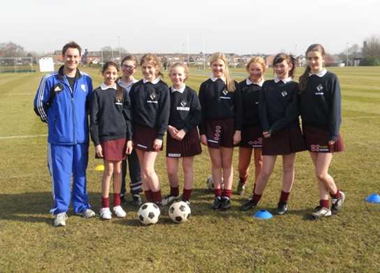 Bolton School Girls Football Development with Bolton Wanderers