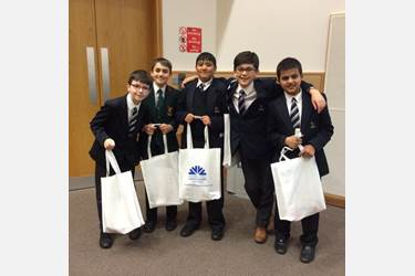 The French Spelling Bee boys enjoyed themselves at Manchester Met