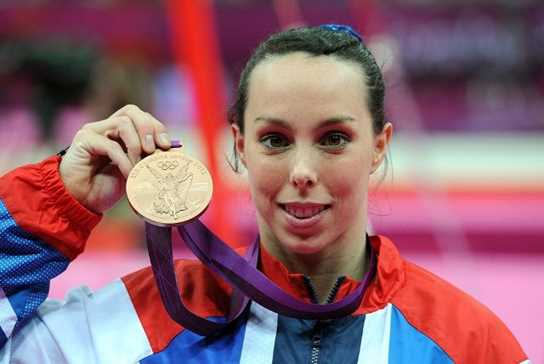 Beth Tweddle with her 2012 Olympic medal