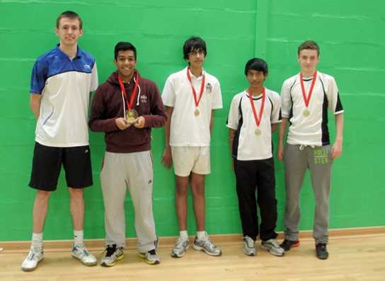 Bolton School U16 Badminton team