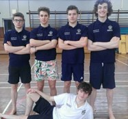The Bolton School senior relay team