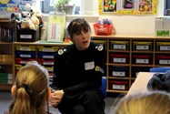 Old Girl Janette McCormick talked to pupils about being part of the police force