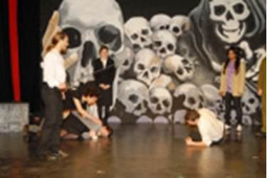 Sixth Form Girls in Hamlet Production