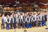 The Year 2 Choir gave a very impressive performance