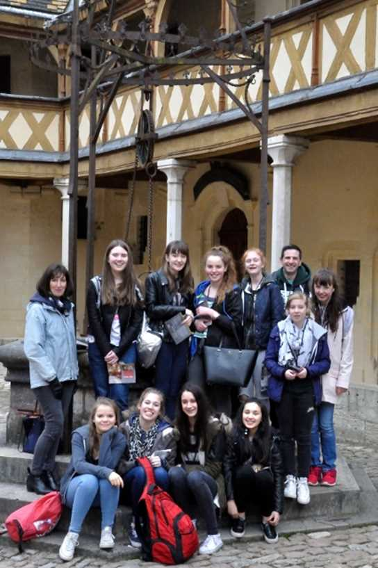 Girls' Division pupils and teachers at the Hospices de Beaune