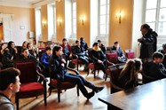 Learning more about the council at Moulins Town Hall