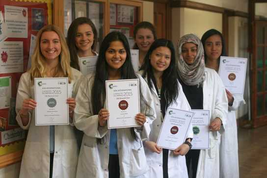 Some of the high achieving Olympiad girls with their certificates