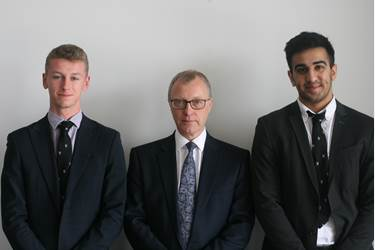 Lord Justice Ryder and Sixth Form boys