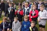 The Bolton Town Boys with their gold medals after the race