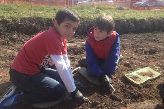 The boys really enjoyed working on the archaeological site