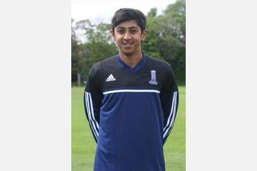 Haseeb in his England Development Programme kit