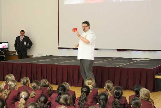 Andy Lagor of Unilever Food Solutions gave a moving assembly talking about worldwide hunger