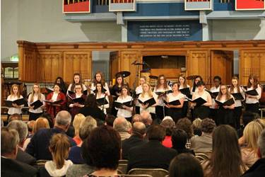 The Senior Choir performed 'Kyrie', which was written for them by Mrs Price