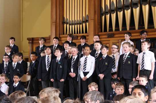 The Massed Voices of the Junior Boys' School performed a Michael Jackson Medley