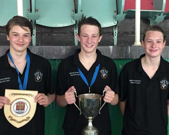 Vice Captain Jack Phillips, Captain Jos Winstanley and top scorer Kurtis Watson