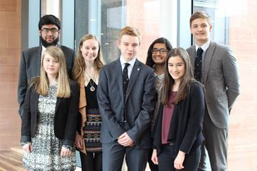A group of Sixth Form pupils who have achieved vInspired awards