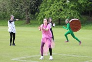 A speedy snail during one of the rounders matches
