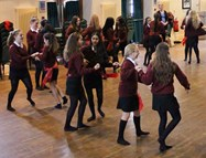 The girls had great fun with the introduction to Salsa
