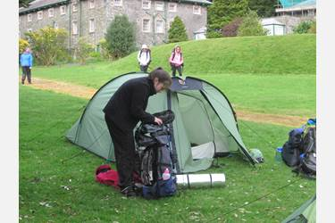 The girls braved a trial night of camping at Patterdale Hall despite driving rain and gales!
