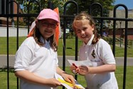 Having fun completing the Orienteering challenge