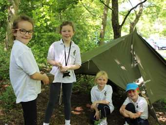 The girls had lots of fun during Bushcraft